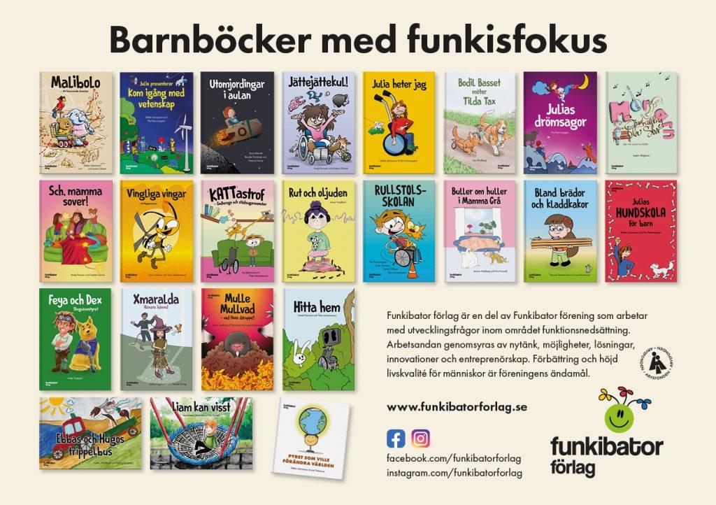 Barnböcker med Funkisfokus - Funkibator Förlag
