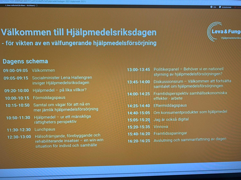 Informativ text om hjälpmedelsriksdagen